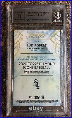 Luis Robert 2020 Topps Diamond Icons Silver Ink Red Rookie Auto 5/5 BGS 9/10