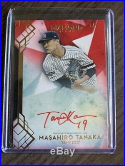 Masahiro Tanaka 2020 Topps Diamond Icons Red Ink Auto/Autograph #2/5 RI-MT