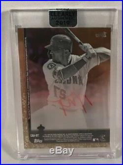Mike Trout 2019 Topps Clearly Authentic Auto Signed True 1/1 Red Ink Signature