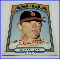 Nolan Ryan 2021 Topps Heritage Angels Red Ink Auto ROA-NR 58/72