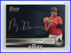 Rafael Devers 2015 Bowman Black 1 /25 Silver Ink Auto Autograph Propsect Red Sox
