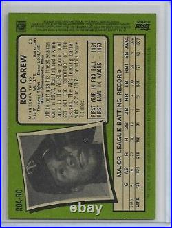 Rod Carew 2020 Topps Heritage High Number SP Red Ink Real One Auto Autograph /71