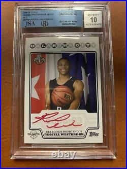 Russell Westbrook 2008-09 Topps Rookie RC Photo Shoot RED INK Auto BGS RARE