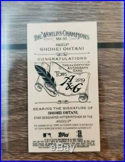 Shohei Ohtani 2019 Topps Allen & Ginter Red Ink Auto /10 Autograph Rip Mini