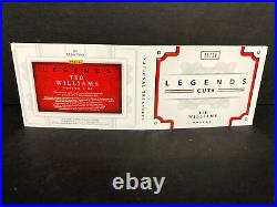 Ted Williams 2016 National Treasures Legend Cuts 10/10 Auto Booklet RARE Red Ink