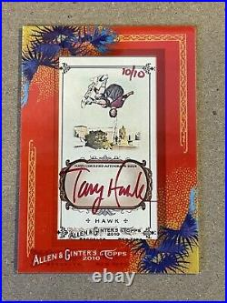 Tony Hawk 2010 Topps Allen & Ginter Red Ink Framed Autograph Auto 10/10