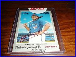 Topps Heritage 2019 Vladimir Guerrero Jr. Red Ink Real One Auto 10/70 Rookie