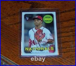 Victor Robles 2018 Topps Heritage Special Edition Real One RC Auto 37/69 Red Ink