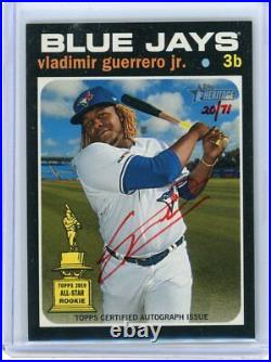 Vladimir Guerrero Jr 2020 Heritage Red Ink Auto /71 Blue Jays Topps ES