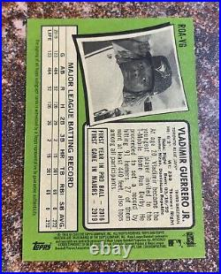 Vladimir Guerrero Jr 2020 Topps Heritage Real One Red Ink SP auto /71