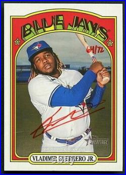Vladimir Guerrero Jr 2021 Topps Heritage Real One Red Ink Auto Autograph /72