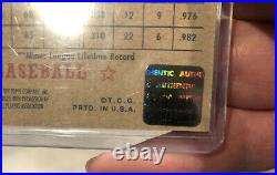 WILLIE MAYS AUTOGRAPH Real One Red Ink Original Auto 2001 Topps Heritage #THA-WM